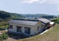 畑より撮影:家と眺めの良い景色
