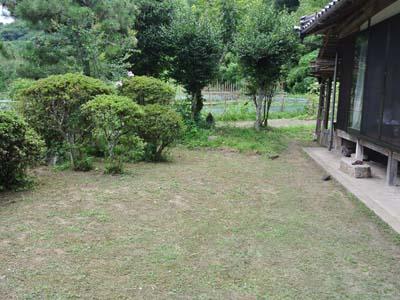 きれいにと整備されたお庭