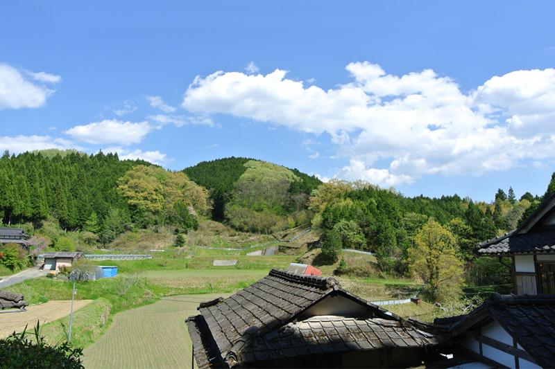 田舎風景を一望