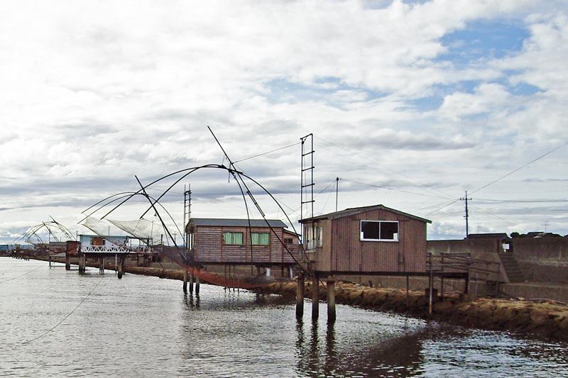 児島湾の四つ手網