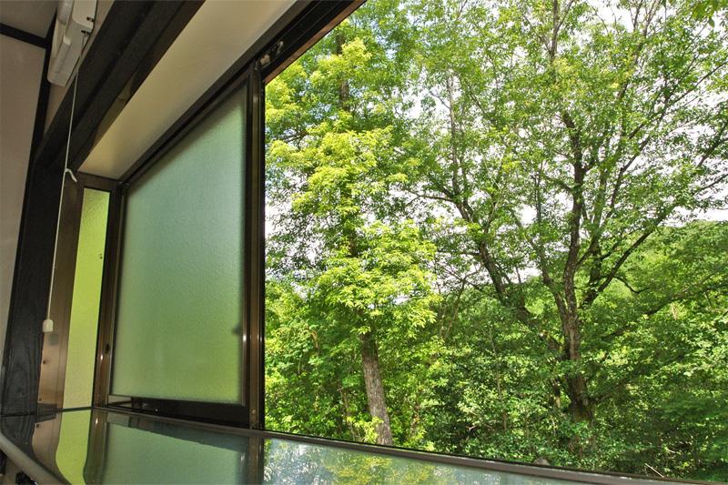 キッチンの窓からの眺め