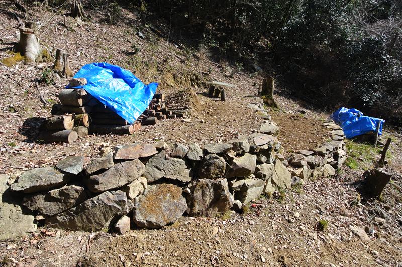 オーナー自作の石垣