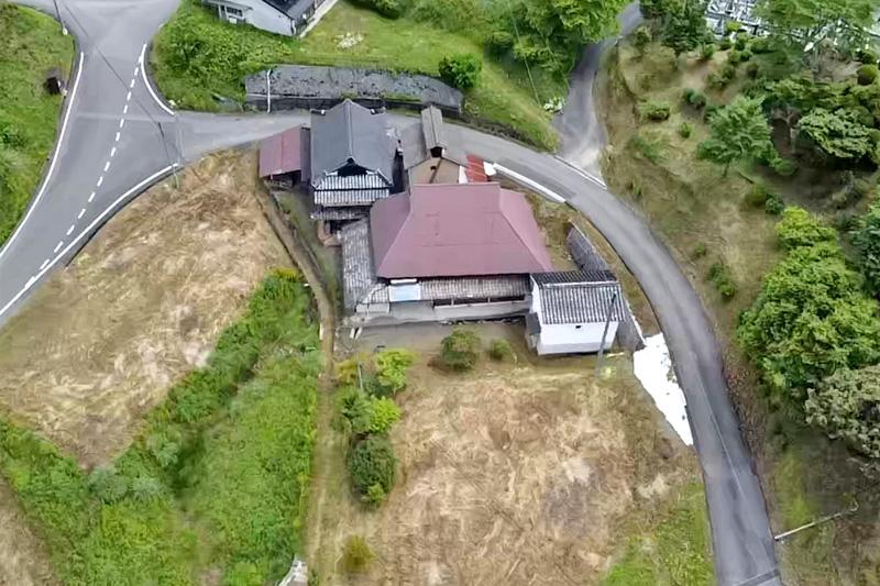 空から見た家の様子